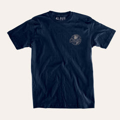 Slave Old World S/S - Navy - Men's T-Shirt