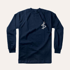 Slave Money Pocket L/S - Navy - Men's T-Shirt