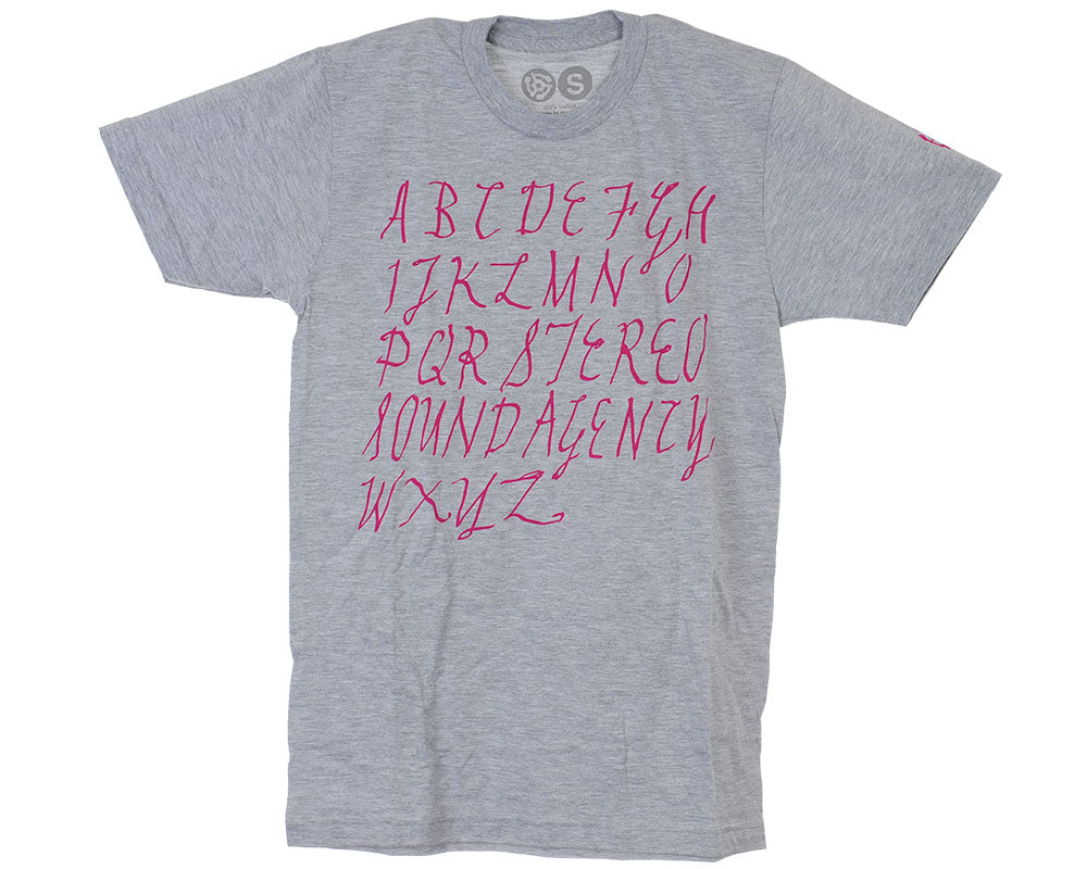 Stereo Alphabet S/S Men's T-Shirt - Heather Grey