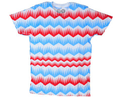 Stereo Jagged S/S Men's T-Shirt - Multi