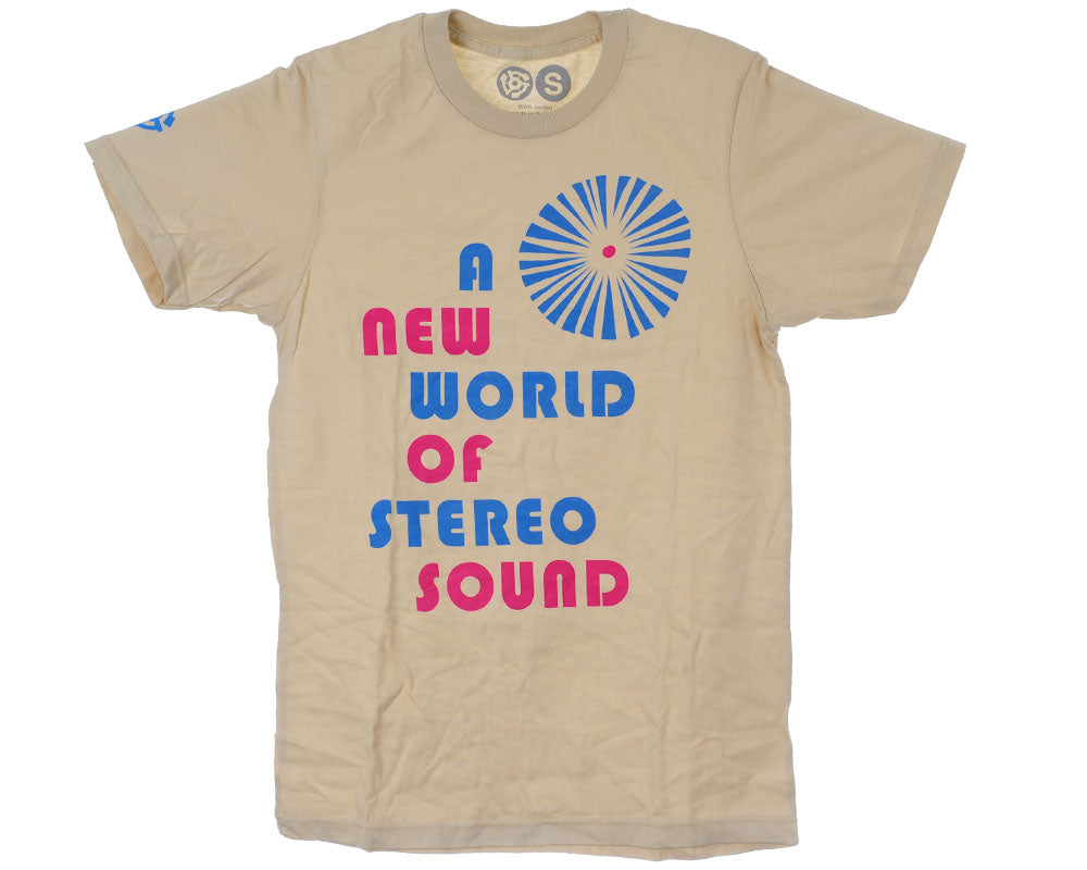Stereo Sound S/S Men's T-Shirt - Natural