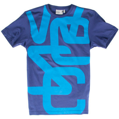 WeSC Overlay Biggest Men's T-Shirt - Blue Depths - Extra Large