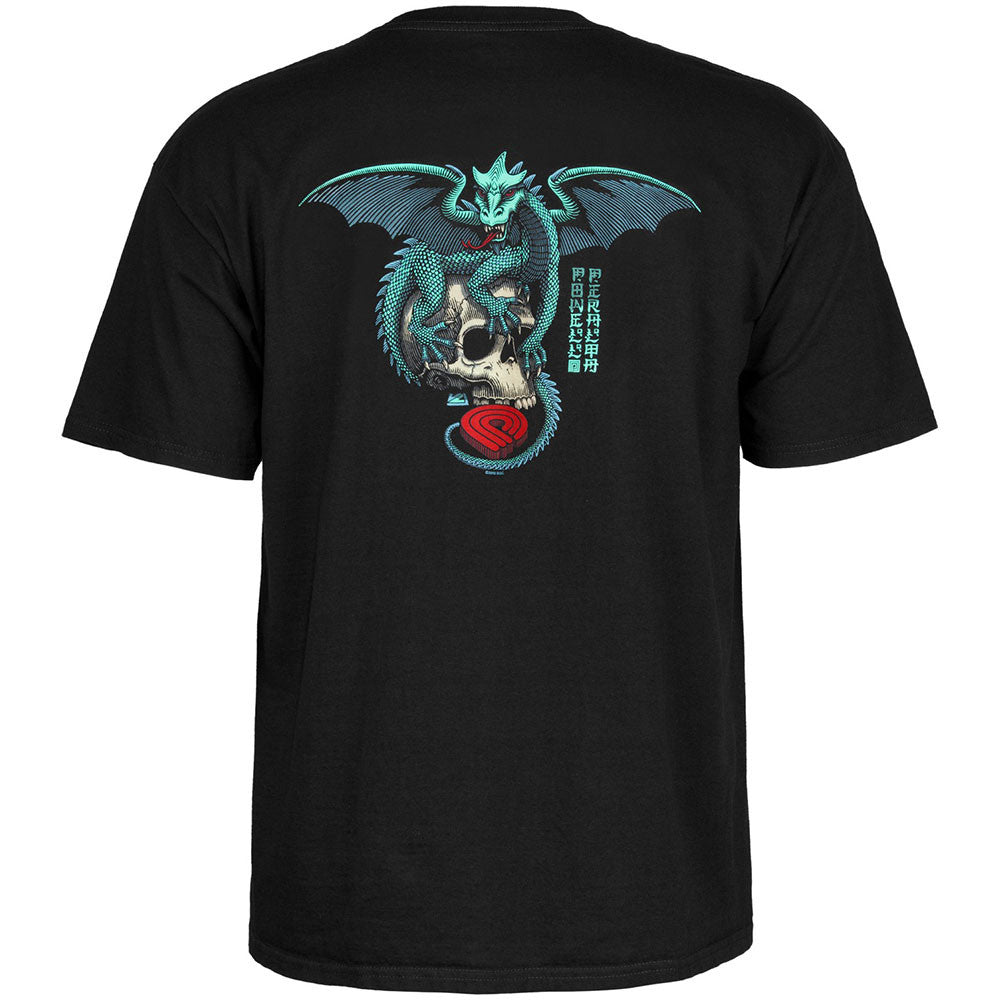 Powell Peralta Dragon Skull S/S Men's T-Shirt - Black