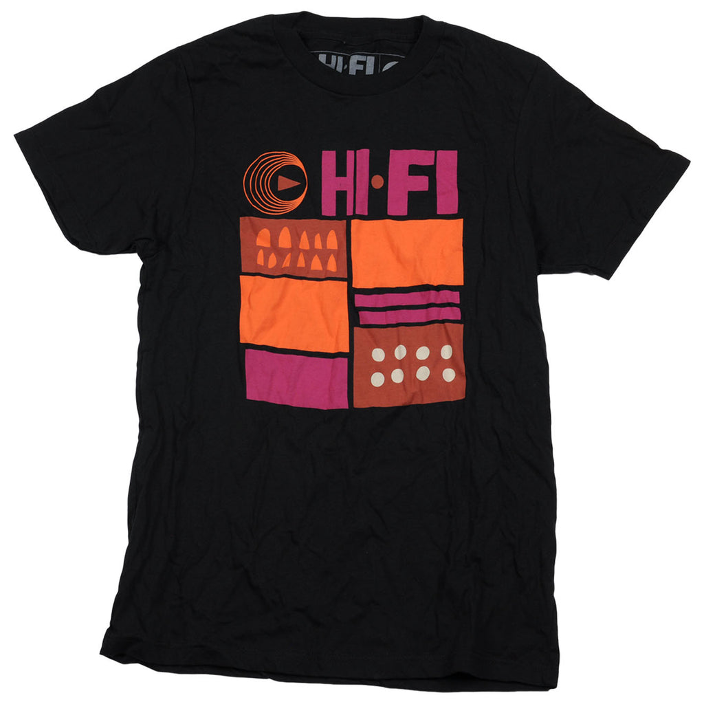 Hifi Men's T-Shirt - PUR/ORG/BLK