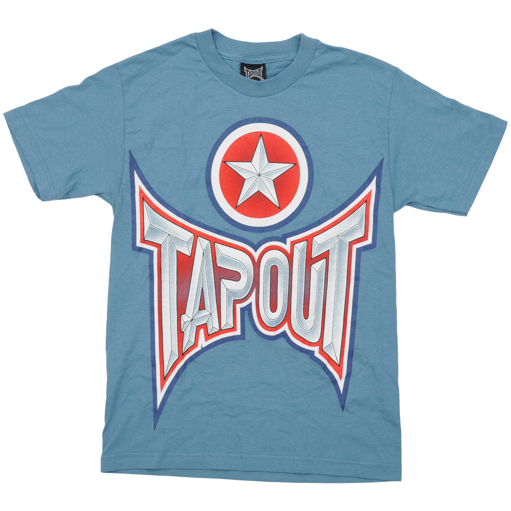 Tapout Men's T-Shirt - Red/White/Blue