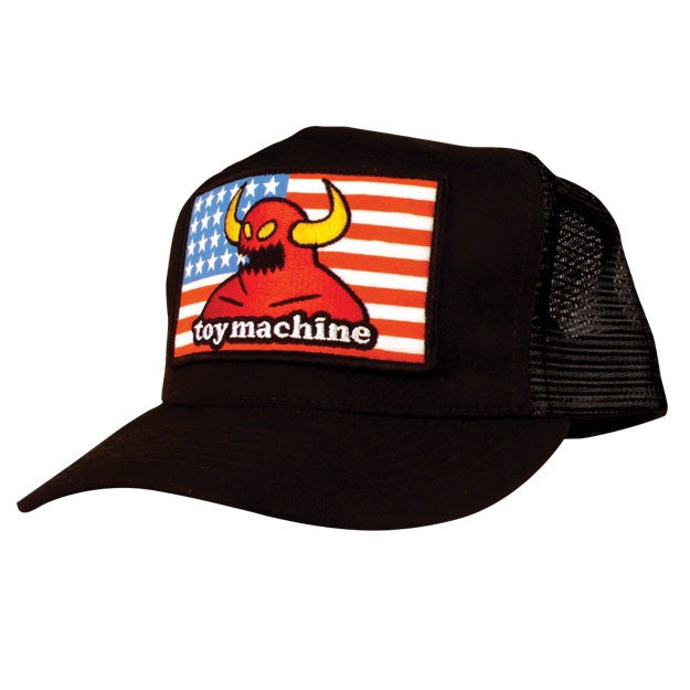 Toy Machine American Monster Adjustable Men's Hat - Black