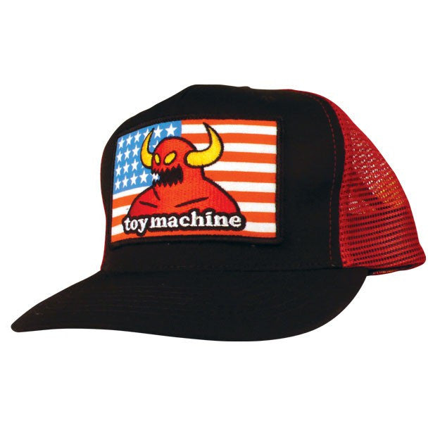 Toy Machine American Monster Adjustable Men's Hat - Red