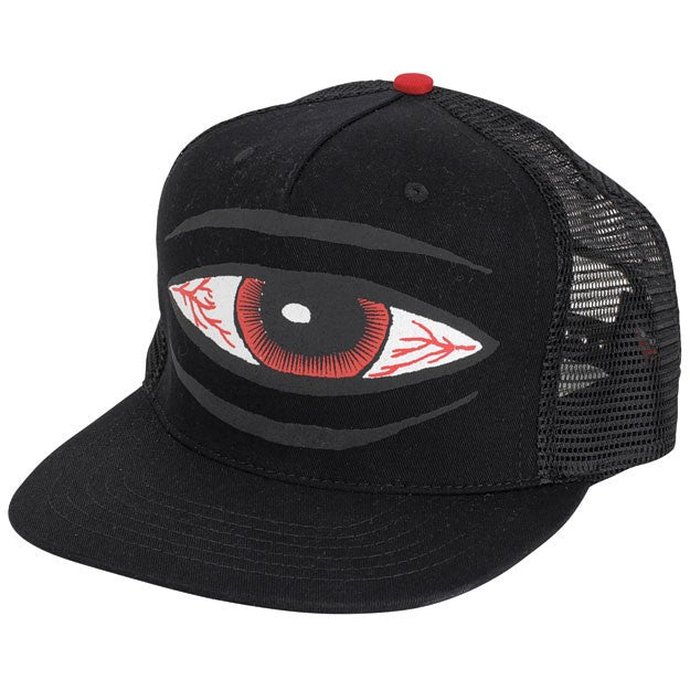 Toy Machine Sect Eye Adjustable Men's Trucker Hat - Black