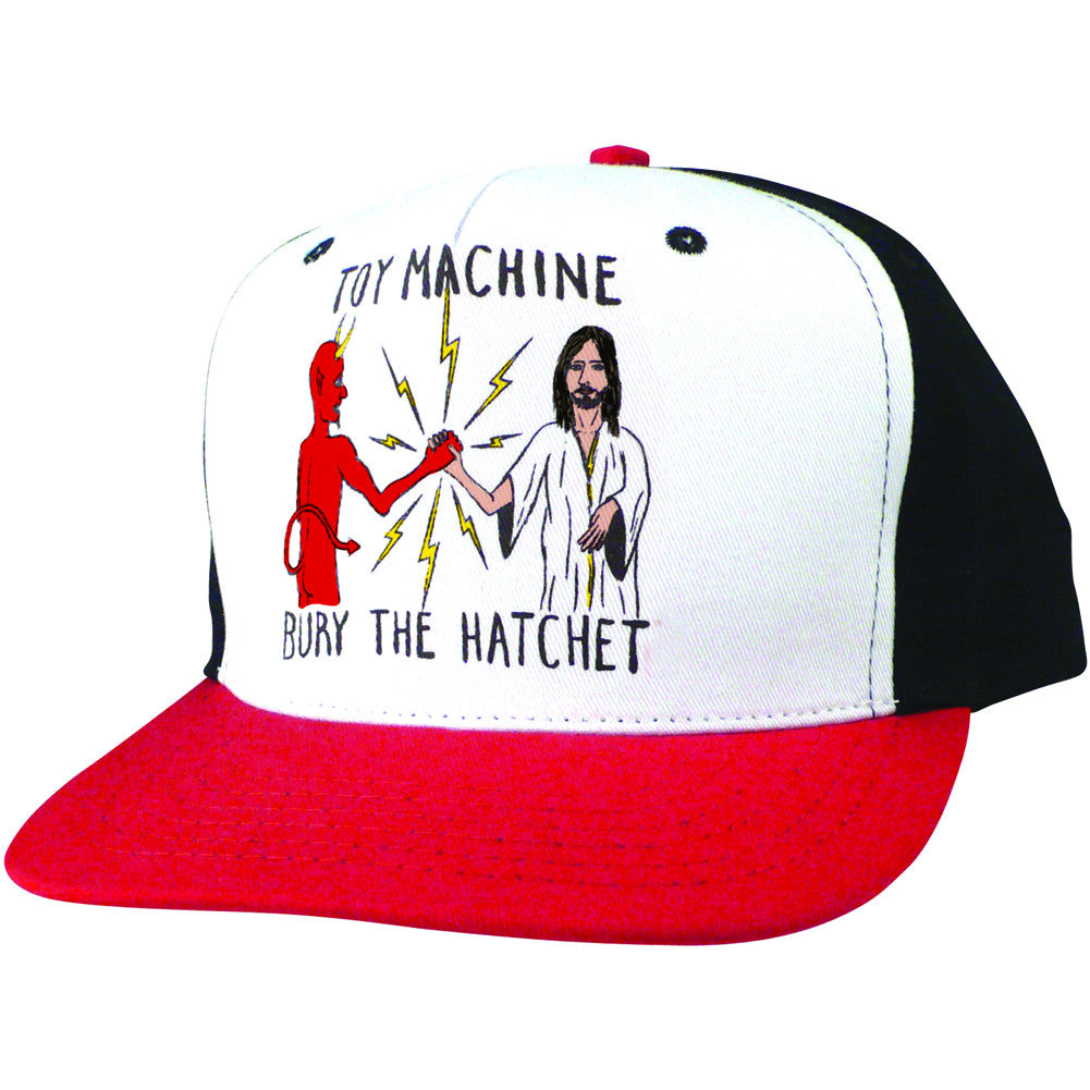 Toy Machine Bury The Hatchet Adjustable Men's Hat - Black/Red