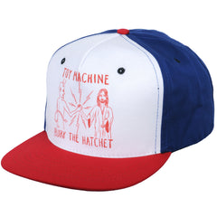 Toy Machine Bury The Hatchet Adjustable Snapback Men's Hat - Blue/Red