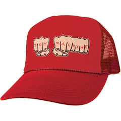 Toy Machine Fists Mesh Adjustable Men's Hat - Red/Red
