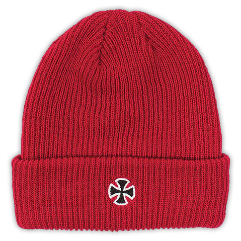 Independent Cross Long Shoreman Men's Beanie - One Size - Red
