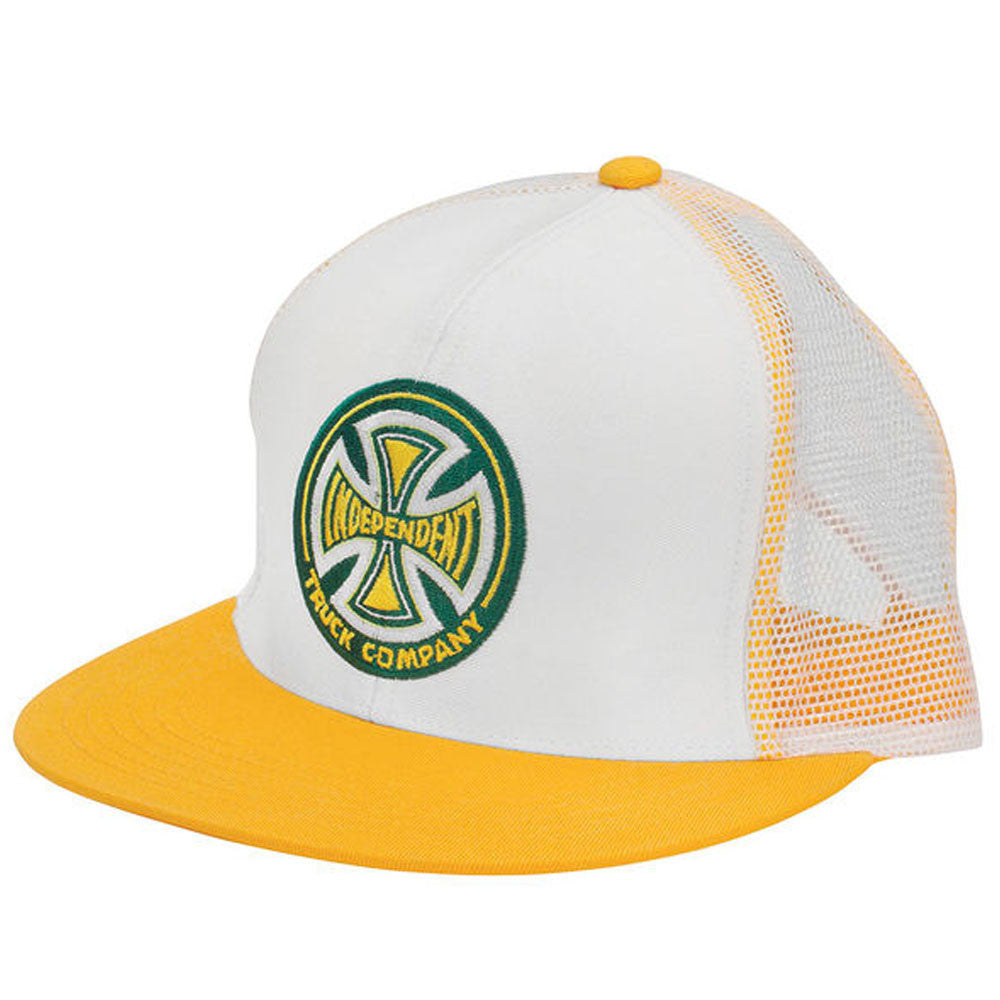 Independent Truck Co Birth Mesh Men's Hat - White/Yellow - Adjustable