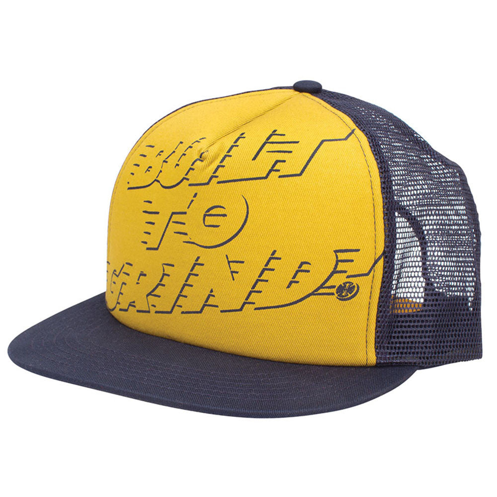 Independent LRG BTG Mesh Snapback Men's Hat - Navy/Yellow - Adjustable