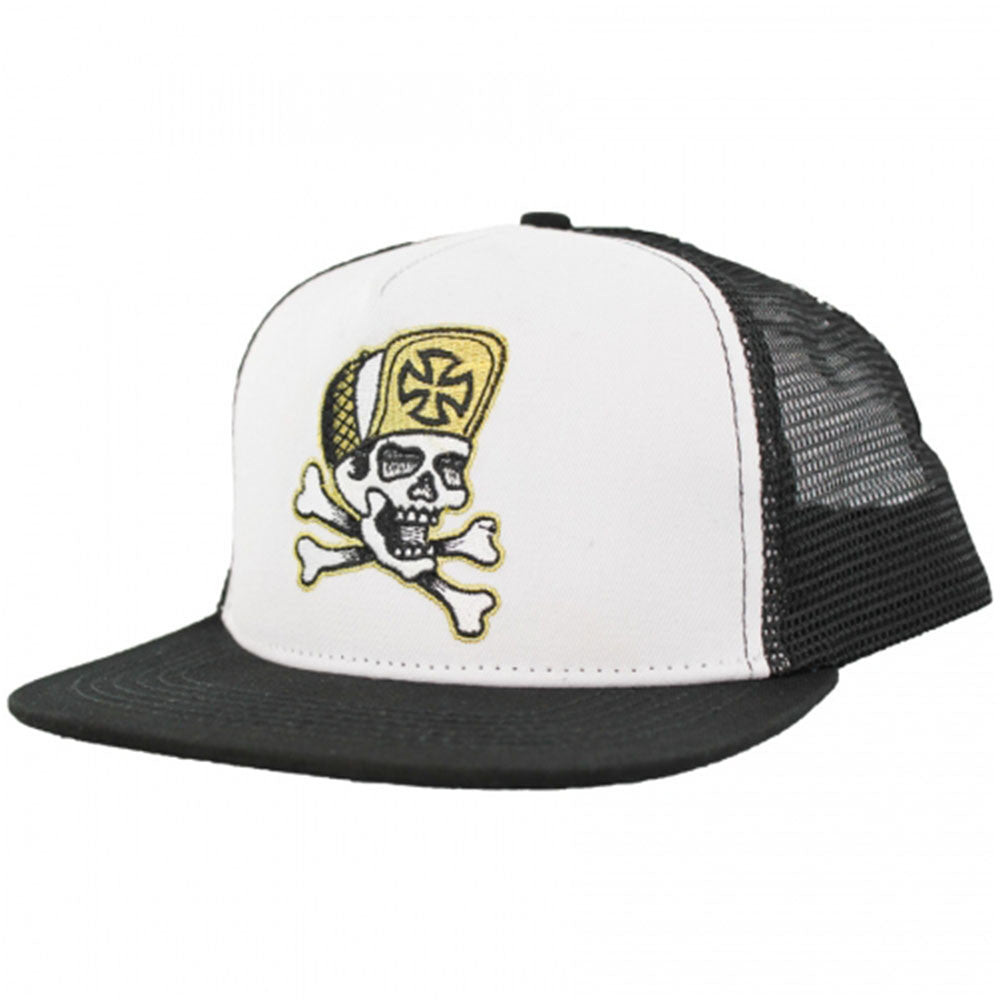 Independent Dressen Skull & Bones Trucker Mesh Men's Hat - Black/White - Adjustable