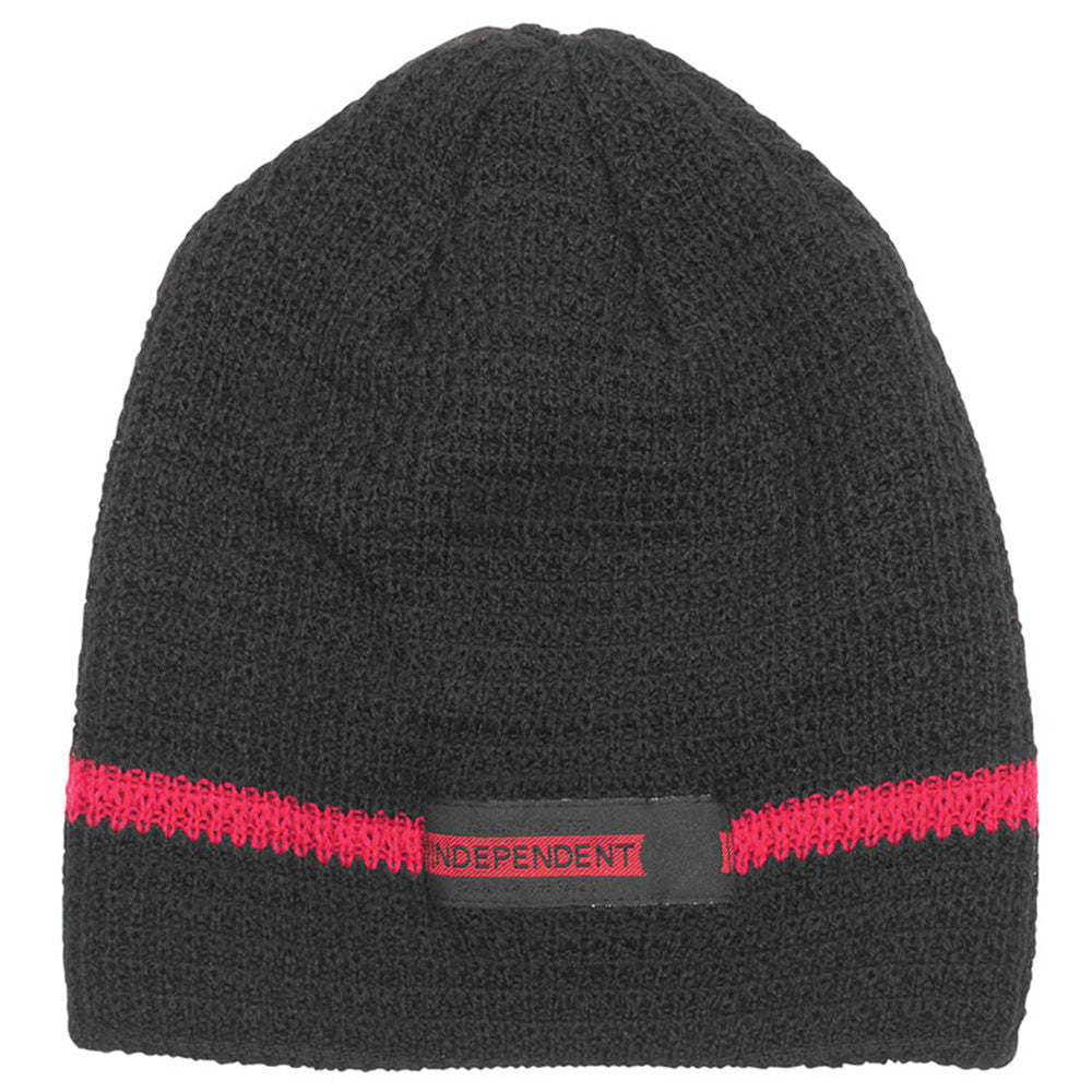 Independent Red Line Skull Cap Men's Beanie - OS - Black