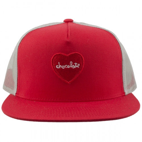 Chocolate Heart Men's Trucker Hat - White/Red