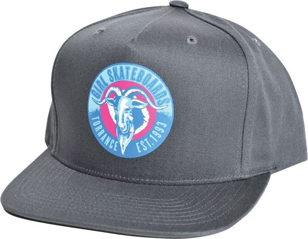Girl Torrance Goat Snapback Men's Hat - Charcoal
