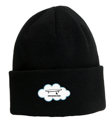 Girl Cloud Fold Men's Beanie - Black/White