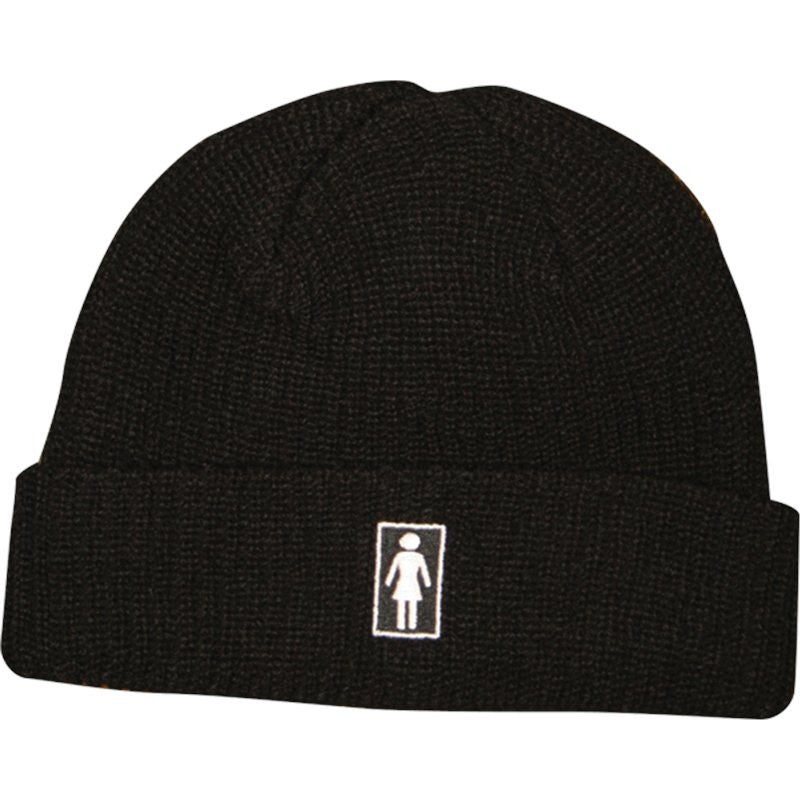 Girl OG Fold Men's Beanie - Black