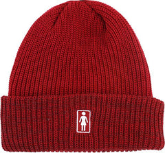 Girl OG Folded Men's Beanie - Red