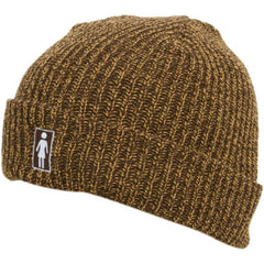 Girl OG Folded Men's Beanie - Brown