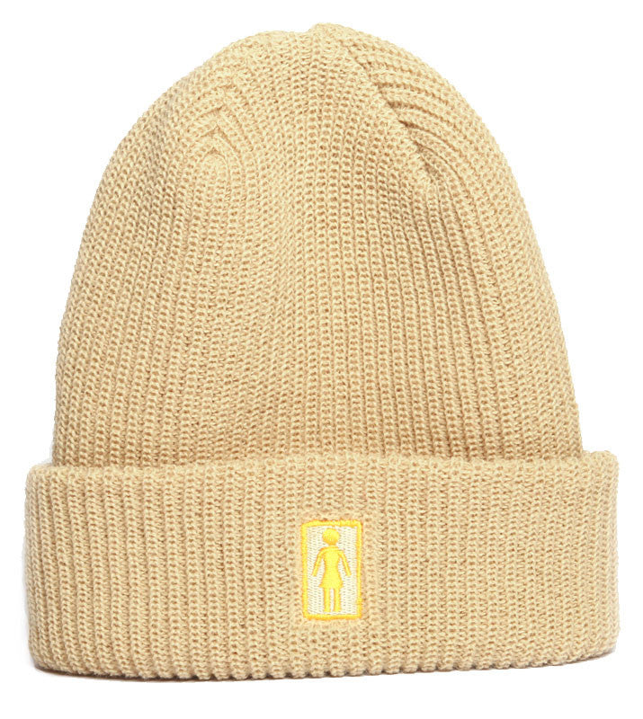 Girl OG Folded Men's Beanie - Cream