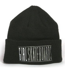 Girl Bars Folded Men's Beanie - Black