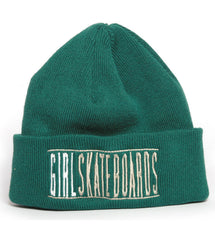 Girl Bars Folded Men's Beanie - Green
