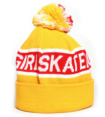 Girl Sonic Two Folded Men's Beanie - Yellow