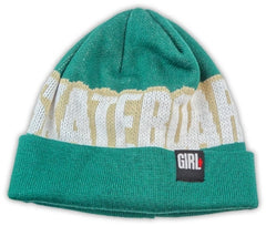 Girl Big Weave Men's Beanie - Teal/Cream