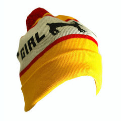 Girl Goat Men's Beanie - Yellow