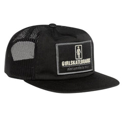 Girl Stations Trucker Snapback Men's Hat - Black