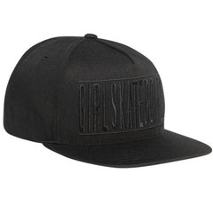 Girl Bars Snapback Men's Hat - Black