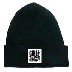 Girl Time Stamp Men's Beanie - Black