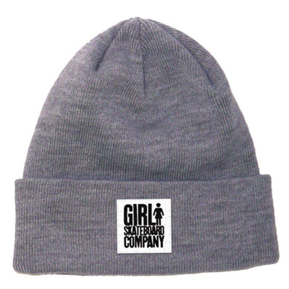 Girl Time Stamp Men's Beanie - Heather Grey