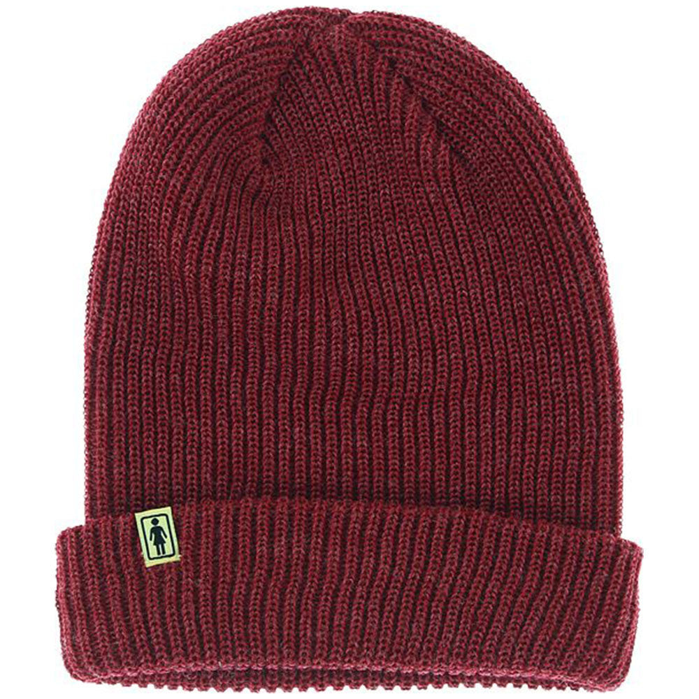 Girl OG Folded Men's Beanie - Maroon