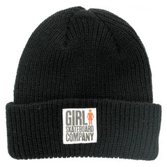 Girl Big Girl Folded Men's Beanie - Black