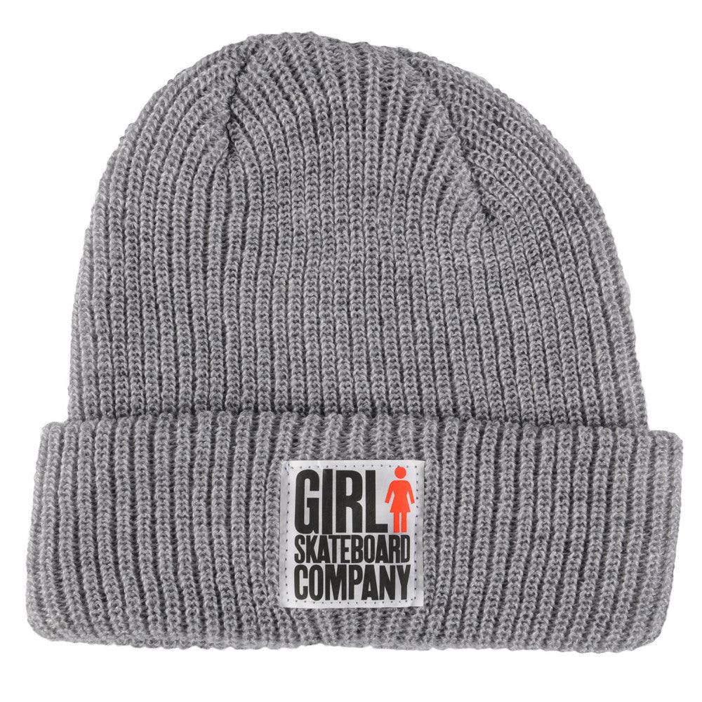 Girl Big Girl Folded Men's Beanie - Heather Grey