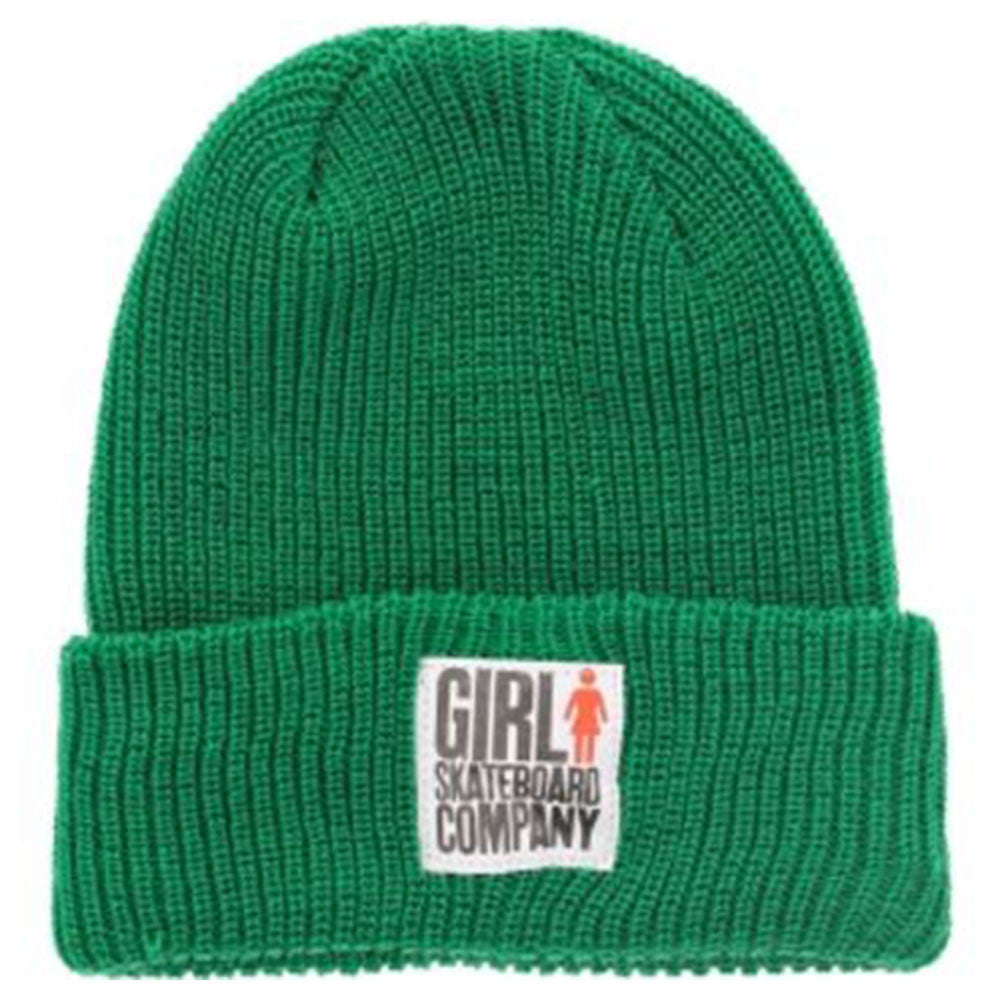 Girl Big Girl Folded Men's Beanie - Green