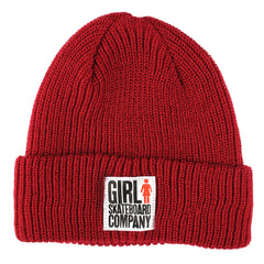 Girl Big Girl Folded Men's Beanie - Cardinal