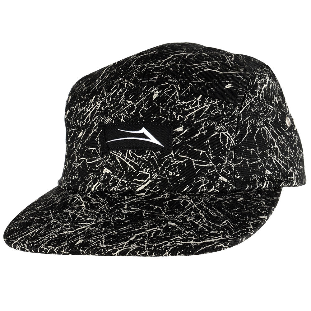 Lakai Marble 5 Panel Men's Hat - Black