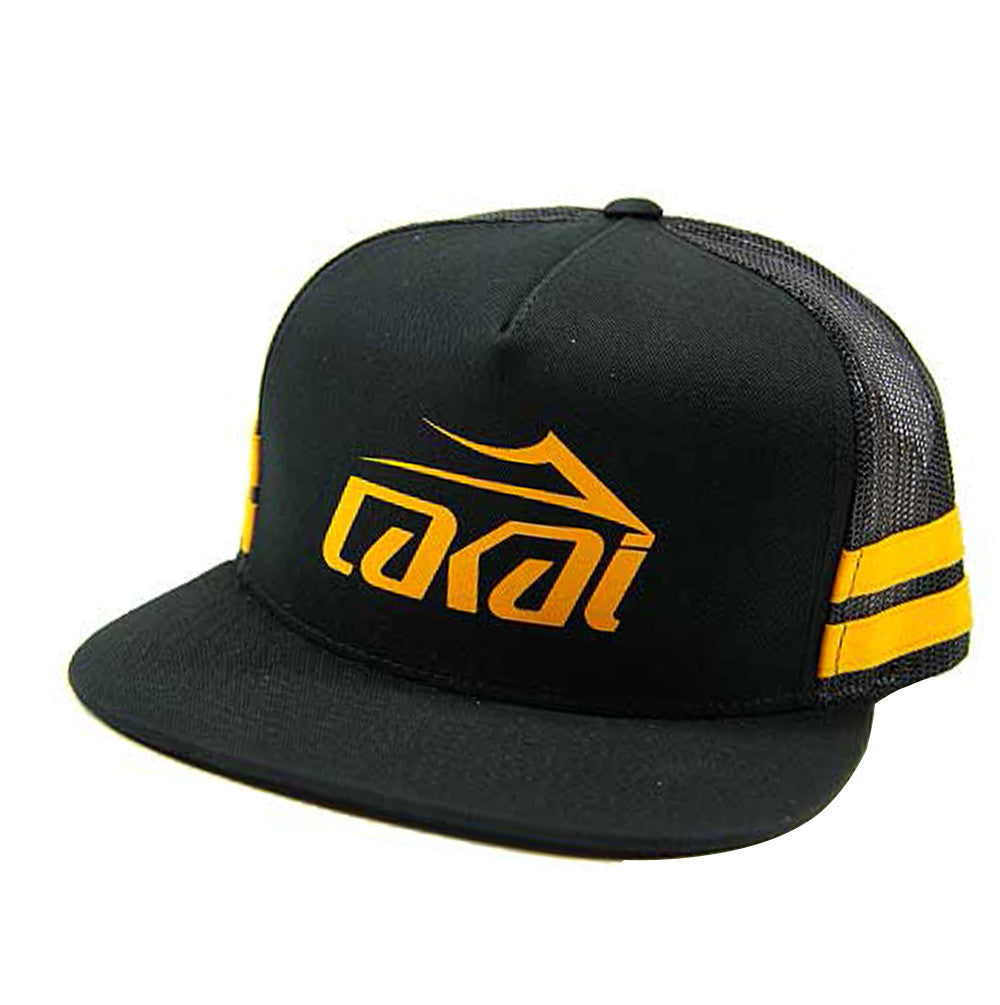 Lakai Mesh Logo Snapback Men's Hat - Black