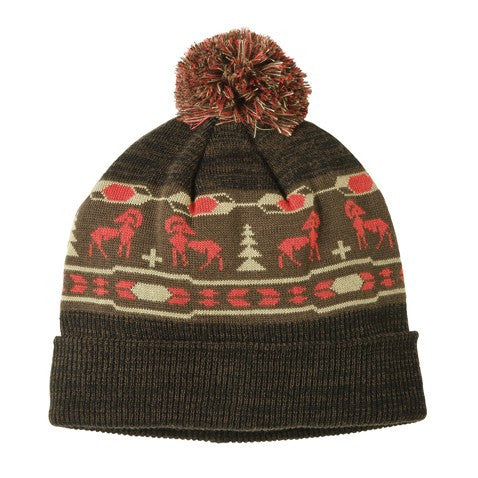 Habitat Nomad Men's Beanie- Black/Chocolate
