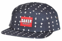 Baker Positivity Men's Strapback 5 Panel Hat - Navy