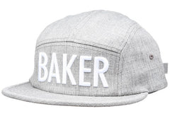 Baker Brockman Men's Strapback 5 Panel Hat - Grey