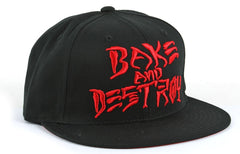 Baker Bake And Destroy Men's Snapback Hat - Black/Red