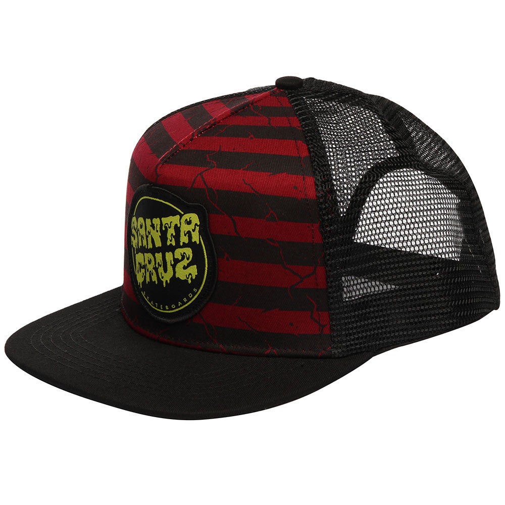 Santa Cruz Break Down Trucker Mesh Men's Hat - Black/Oxblood - Adjustable