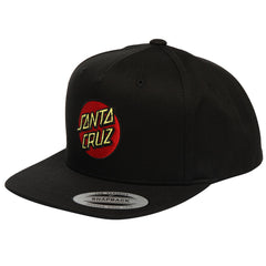 Santa Cruz Classic Dot FlexFit Snapback Toddlers Hat - Black - Adjustable