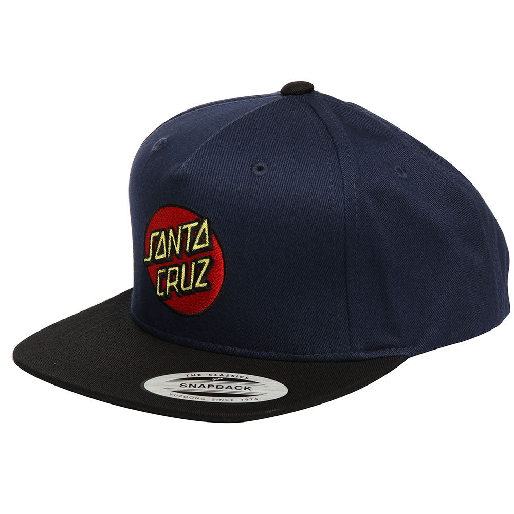Santa Cruz Classic Dot FlexFit Snapback Toddlers Hat - Navy/Black - Adjustable